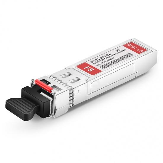 Módulo transceptor compatible con Brocade 25G-SFP28-BXD, 25GBASE-BX10-D SFP28 1330nm-TX/1270nm-RX 10km DOM