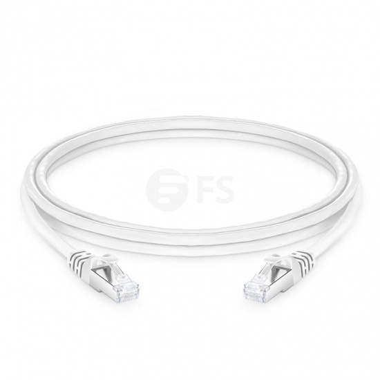 6ft (1.8m) Cat6a Snagless Shielded (SFTP) PVC CMX Ethernet Network Patch Cable, White
