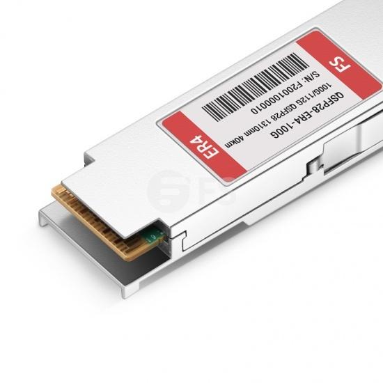 定制100GBASE-ER4 & 112GBASE-OTU4 双速率QSFP28光模块 1310nm 40km