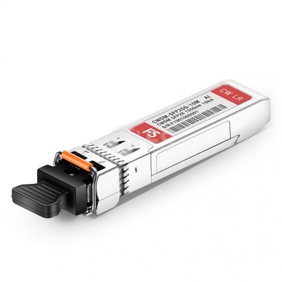Arista Networks SFP-25G-CW-1550-10 Compatible 25G CWDM SFP28 1550nm 10km DOM LC SMF Optical Transceiver Module