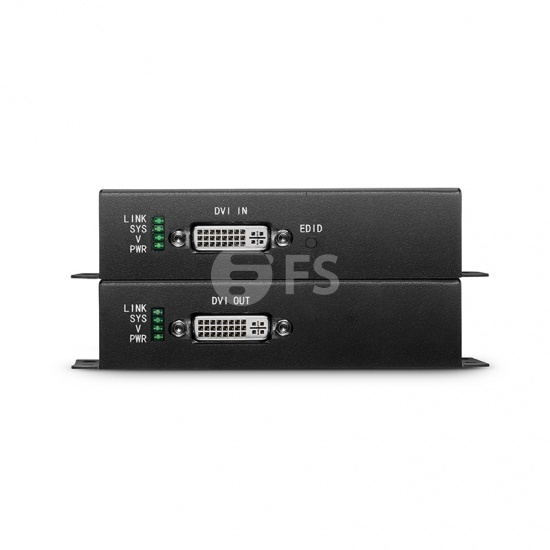 4K DVI Extender Set with Audio, EDID and RS232 via Single LC Fiber for 10km
