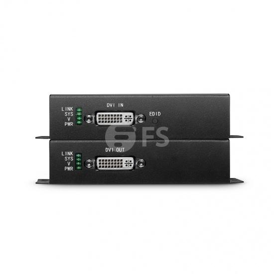KVM extensor DVI 4K por fibra óptica LC 10km, con audio, EDID y RS232