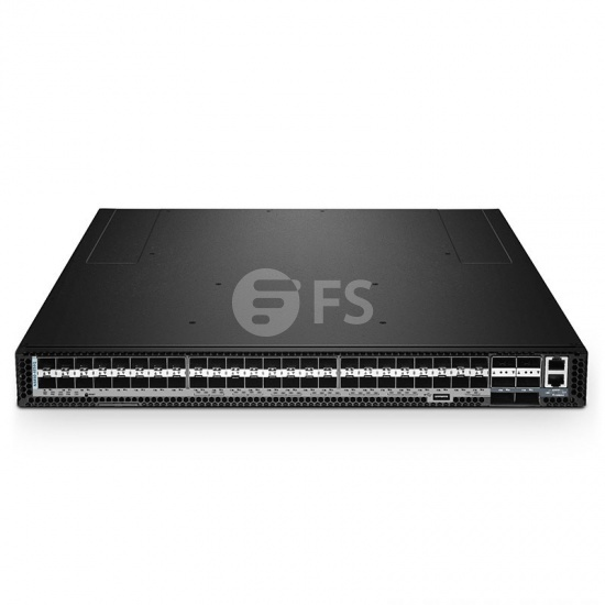 N5850-48S6Q Switch Ethernet administrable capa 3 para centro de datos, 48 puertos SFP+ de 10Gb, 6 enlaces ascendentes QSFP+ de 40Gb, sistema operativo (SO) Cumulus® Linux® para 3 años