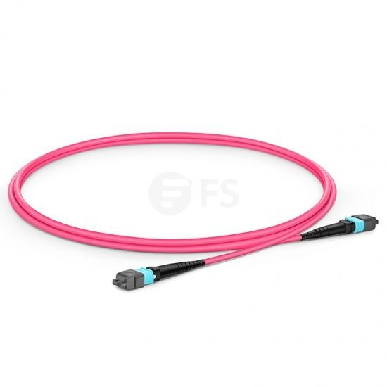1m 16芯 MTP®(母) APC 万兆多模OM4主干光纤跳线,用于400G网络连接,Plenum(OFNP阻燃)