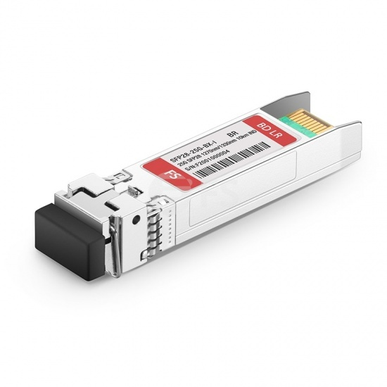 Módulo transceptor industrial compatible con Brocade 25G-SFP28-BXU-I, 25GBASE-BX10-U SFP28 1270nm-TX/1330nm-RX 10km DOM LC SMF