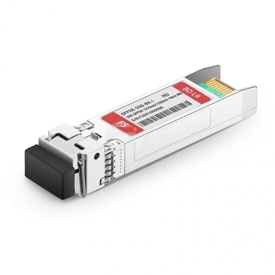 HW 25GBase-BX-U-I Compatible Module SFP28 25GBASE-BX10-U 1270nm-TX/1330nm-RX 10km Industriel DOM