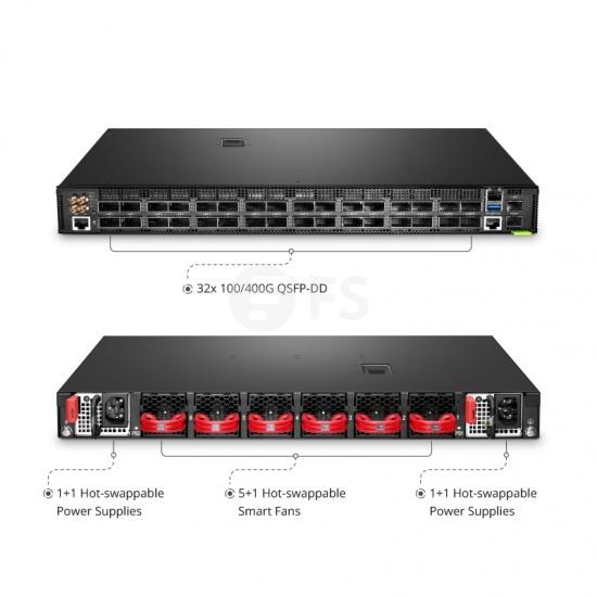 N9500-32D 400G 数据中心交换机(32*400Gb),裸机,5年质保
