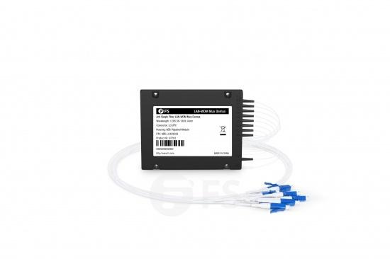 4 Channels 1295.56-1309.14nm, Single Fibre LAN-WDM Mux Demux, Side-A, ABS Pigtailed Module, LC/UPC