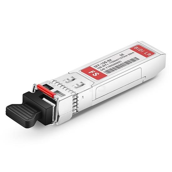 工業用 Dell GP-SFP-10GBX-D-20-I互換 10GBASE-BX20-D BiDi SFP+モジュール(1330nm-TX/1270nm-RX 20km DOM LC SMF)