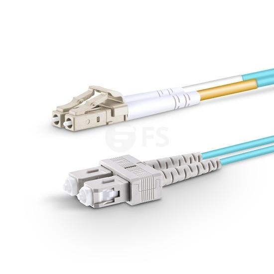 1m LC/UPC-SC/UPC万兆双工多模OM3光纤跳线-2.0mm PVC(OFNR)
