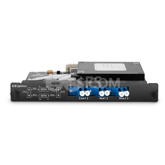 1x2 Single Fiber DWDM Splitter Red/Blue C Band Filter, LC/UPC, Pluggable Module for FMT Multi-Service Transport Platform