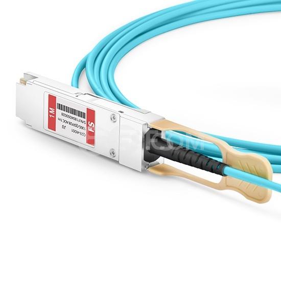 0.5m 瞻博(Juniper)兼容QSFP-100G-AOC0.5M QSFP28 转 QSFP28 有源光缆