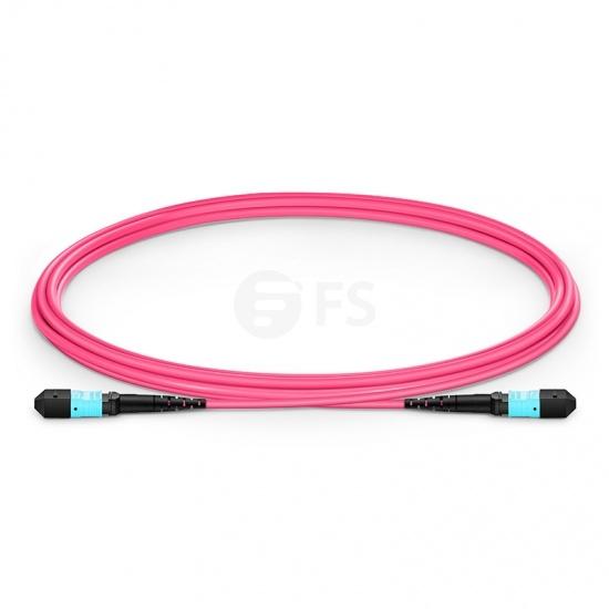 2m (7ft) MTP®APC メス 16芯 OM4 50/125 マルチモード 400Gネットワーク接続用トランクケーブル(エリート、プレナム/OFNP、マゼンタ)