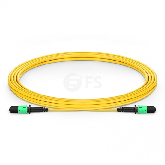 3m (10ft) MPO Female 12 Fibers Type B LSZH OS2 9/125 Single Mode Elite Trunk Cable, Yellow