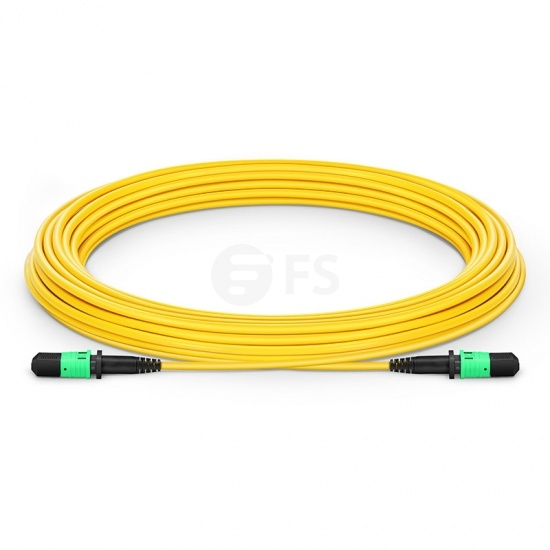 10m (33ft) MPO Female 12 Fibres Type B LSZH OS2 9/125 Single Mode Elite Trunk Cable, Yellow