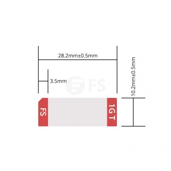 Etiqueta personalizada para transceptor SFP/SFP+ cobre RJ-45 100m, 1 rollo