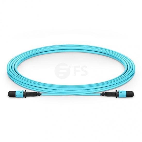 3m (10ft) MPO Female 12 Fibres Type B LSZH OM3 50/125 Multimode Elite Trunk Cable, Aqua