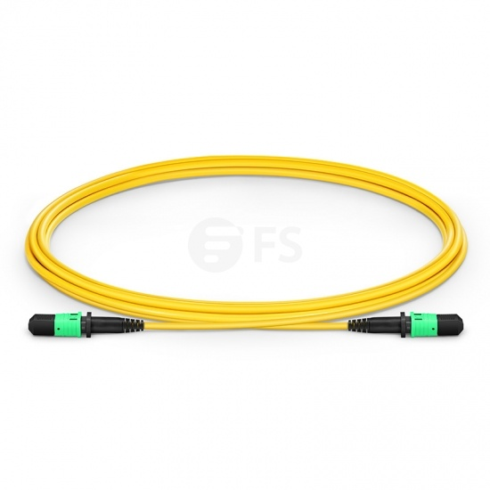 2m (7ft) MPO Female 12 Fibres Type B LSZH OS2 9/125 Single Mode Elite Trunk Cable, Yellow