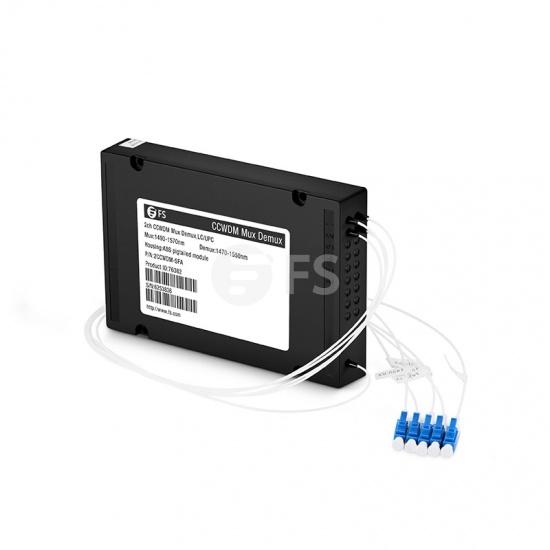 2通道1490-1570nm CCWDM紧凑型粗波分复用器&解复用器单纤,A端