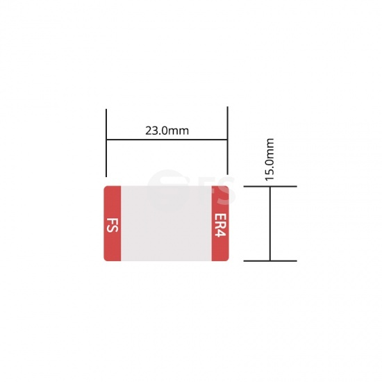 Etiqueta personalizada para transceptor 100G QSFP28 ER4, 1 rollo