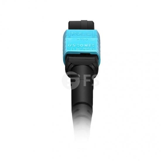 10m 16芯 MTP®(母) APC 万兆多模OM4主干光纤跳线,用于400G网络连接,Plenum(OFNP阻燃)