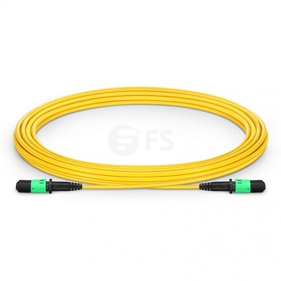 5m (16ft) MPO Female 12 Fibres Type B LSZH OS2 9/125 Single Mode Elite Trunk Cable, Yellow