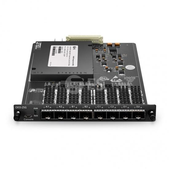 4 Channels Multi-Rate 25G WDM Converter (Transponder), 8 SFP28/SFP+ Slots, Up to 28.1G Rate, Pluggable Module for FMT Multi-Service Transport Platform