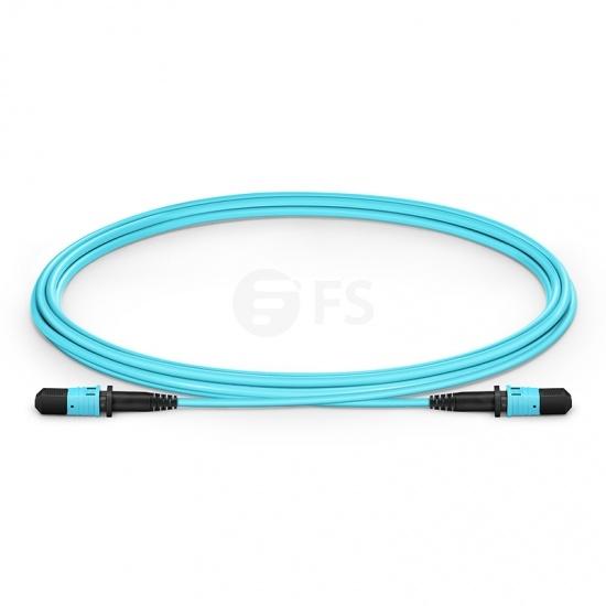 2m (7ft) MPO Femelle 12 Fibres OM3 50/125 Câble Trunk Multimode, Type B, Élite, LSZH, Aqua