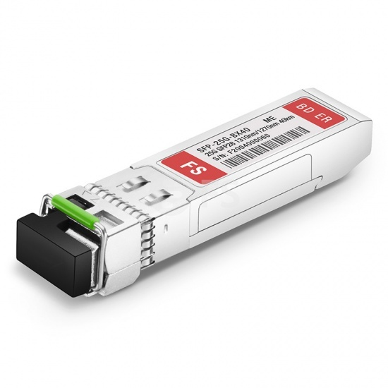 FS for Mellanox SFP28-25G-BX40 Compatible, 25GBASE-BX40-D SFP28 1310nm-TX/1270nm-RX 40km DOM LC SMF Optical Transceiver Module