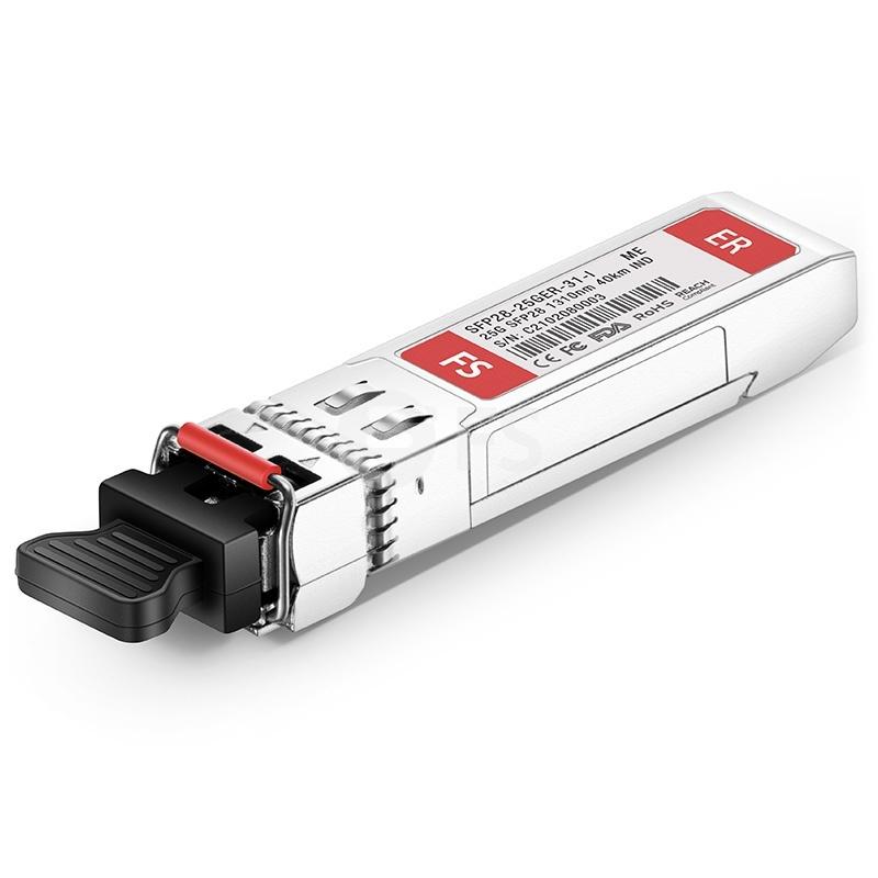 工業用 FS標準 Mellanox互換 25GBASE-ER SFP28モジュール(1310nm 40km DOM LC SMF)