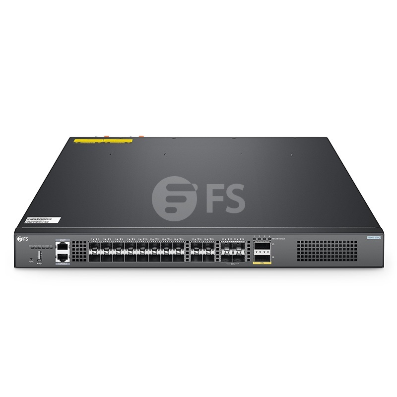 S5860-20SQ, 24-Port Ethernet L3 Fully Managed Pro Switch, 20 x 10Gb SFP+, with 4 x 25Gb SFP28 and 2 x 40Gb QSFP+ Uplinks, Stackable Switch, Broadcom Chip