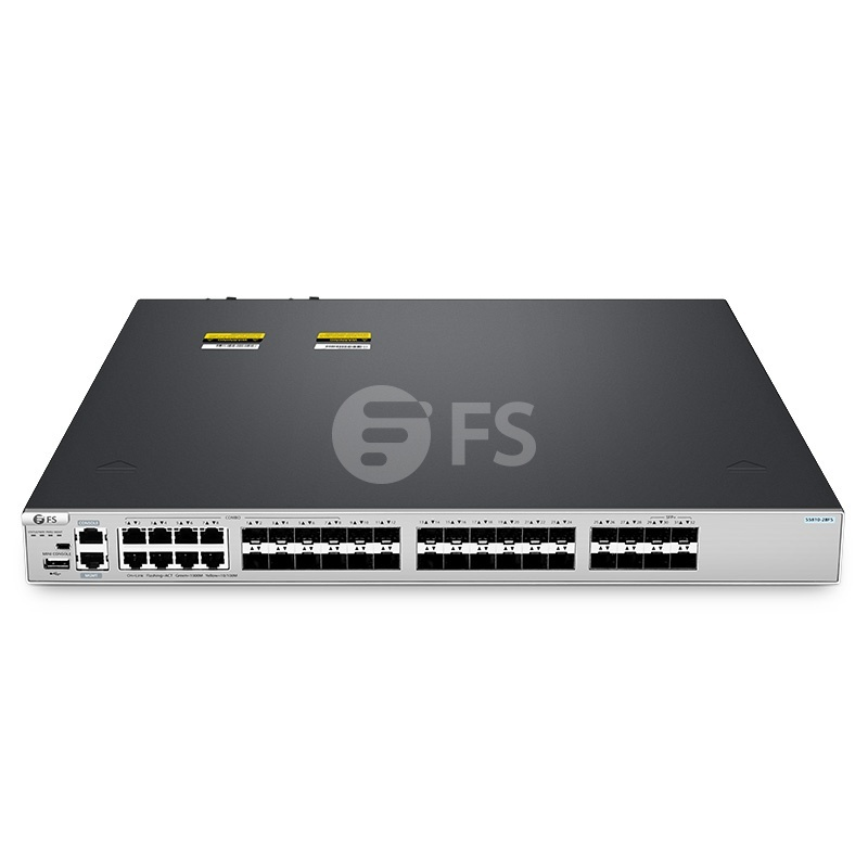 S5810-28FS, switch Ethernet administrable capa 3 de 28 puertos, 28 x SFP 1Gb, con 4 x enlaces ascendentes SFP+ 10Gb y 8 x puertos combinados SFP, switch apilable, chip de Broadcom
