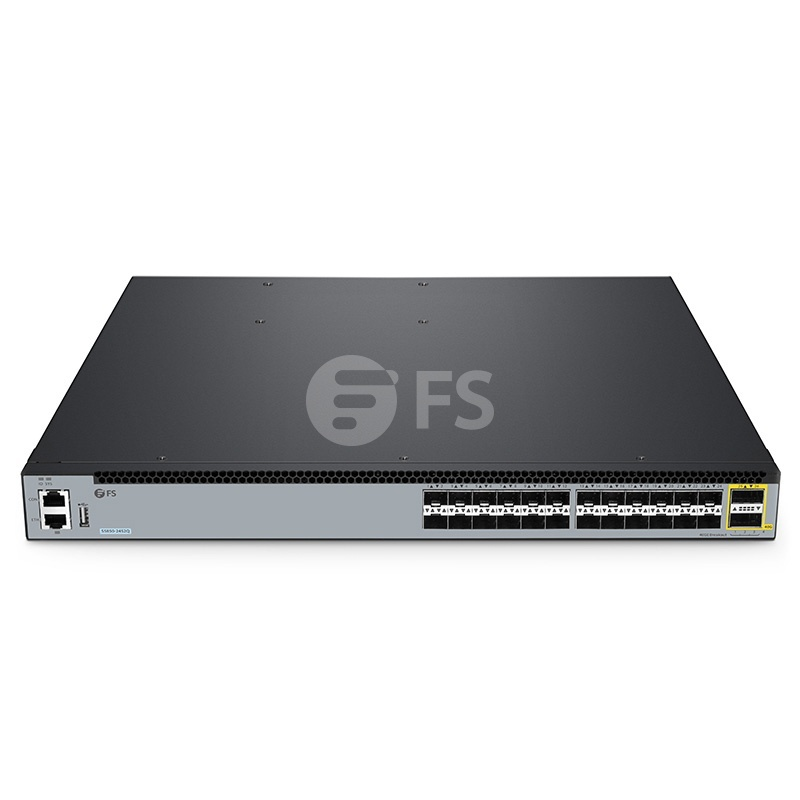 S5850-24S2Q, 24-Port Ethernet L3 Fully Managed Plus Switch, 24 x 10Gb SFP+, with 2 x 40Gb QSFP+, Support MLAG