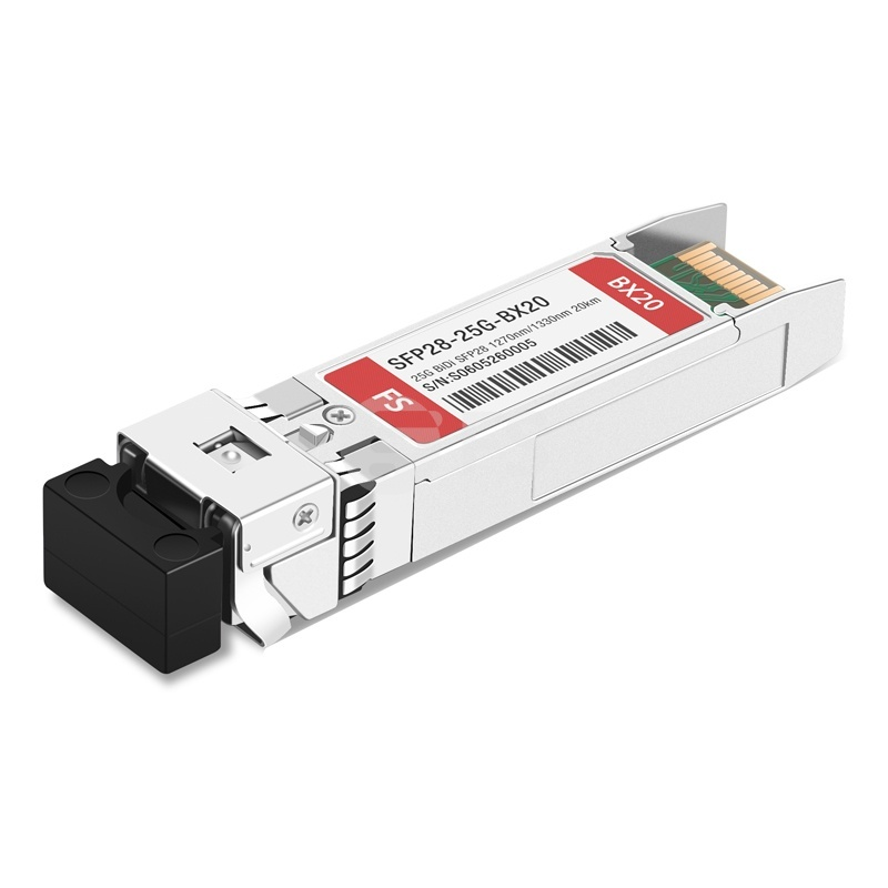 Cisco SFP-25GBX-D-20 Compatible 25GBASE SFP28 1330nm-TX/1270nm-RX 20km DOM LC SMF Optical Transceiver Module