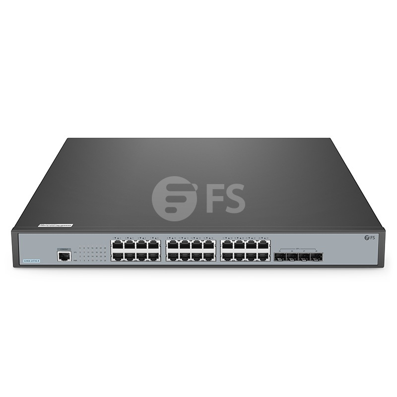 S3900-24T4S-R, 24-Port Gigabit Ethernet L2+ Stackable Fully Managed Switch with 4 x 10Gb SFP+