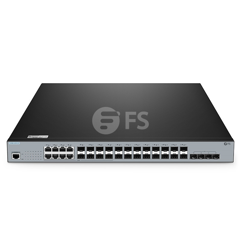 S3900-24F4S-R, 16-Port Gigabit Ethernet L2+ Stackable Fully Managed Switch with 8 x Gigabit Combo, 4 x 10Gb SFP+
