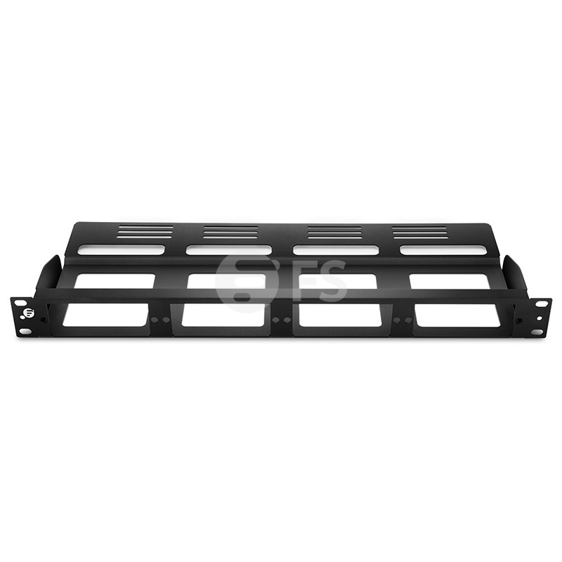 FHD High Density 1U Rack Mount Modular Enclosure Unloaded, Holds up to 4x FHD Cassettes or Panels, 144 Fibers (LC)