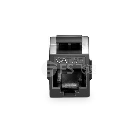 Cat5e 超五类 非屏蔽(UTP)网络直通模块 - 黑色