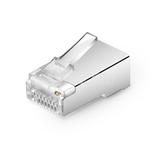 Cat5e 超五类屏蔽RJ45标准网线水晶头 (50个/包)