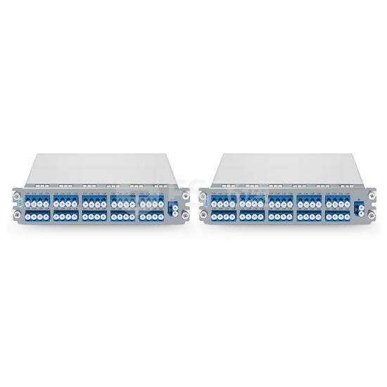 40通道C21-C60 DWDM双纤波分复用器和解复用器,LC/UPC,监控口,热插拔