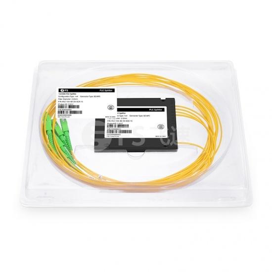 1x4  ABS盒式单模PLC平面波导型光分路器 2.0mm,SC/APC