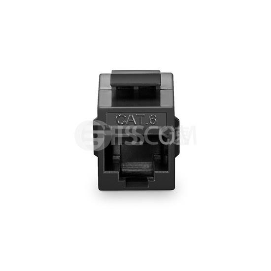 Cat6六类非屏蔽(UTP)网络直通模块 - 黑色