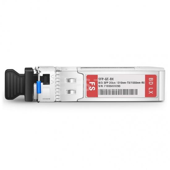 飞速(FS) SFP-GE-BX BiDi SFP千兆单纤双向光模块  1310nm-TX/1550nm-RX 20km