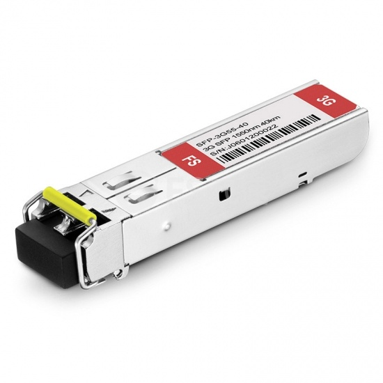 飞速(FS) 3G-SD/HD/3G-SDI MSA 数字视频 SFP光模块 1550nm 40km  收发一体 病理式