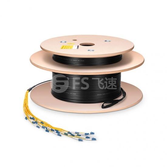 定制4芯LC/SC/FC/ST单模OS2室内/室外多芯光纤跳线-分支2.0mm