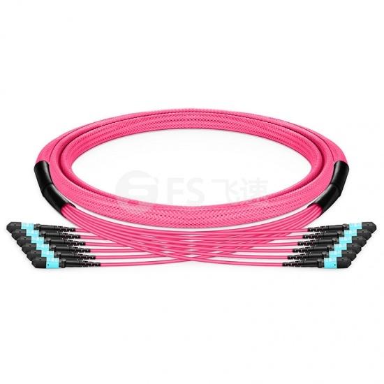 8-144 芯万兆多模(OM4) MTP®(12芯)主干光纤跳线