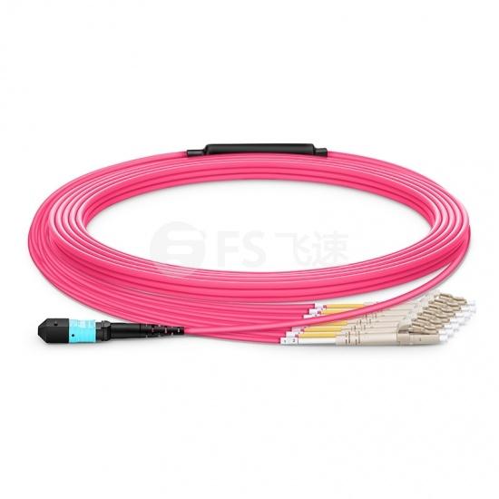 定制8 -144芯万兆多模(OM4) MTP®(12芯)分支光纤跳线