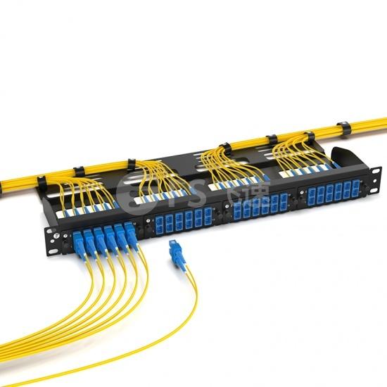 6×SC/UPC 双工单模光纤适配器面板