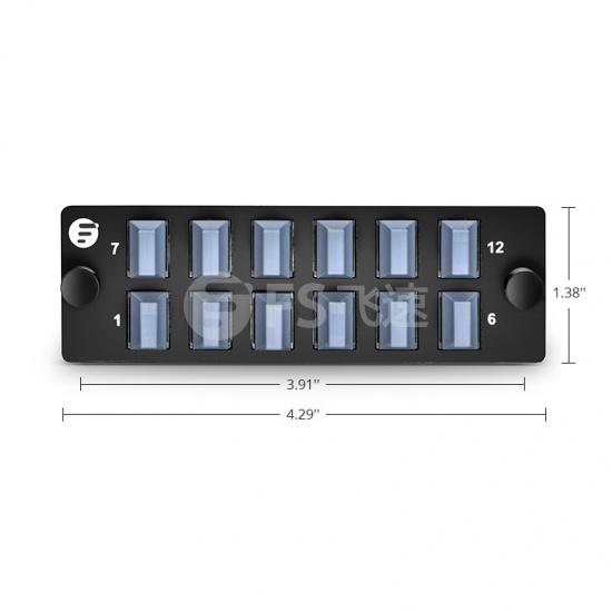 12×MTP 水平光纤适配器面板