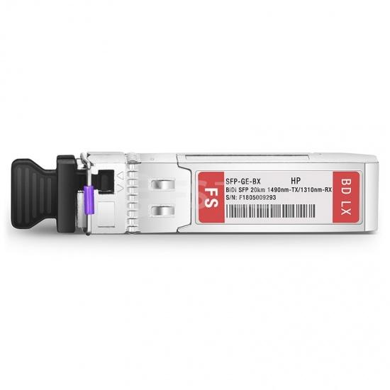 惠普(HP)兼容J9142B-20 BiDi SFP千兆单纤双向光模块  1490nm-TX/1310nm-RX 20km